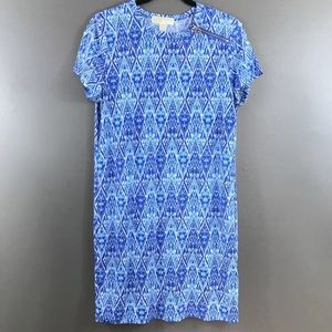 Michael Kors Tunic Top Blue Stretchy Jersey